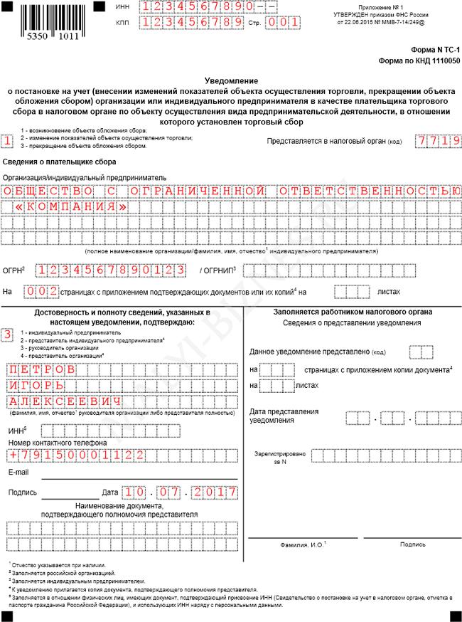 электронной регистрация ип