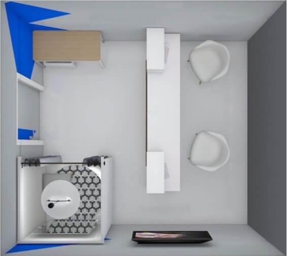 План помещения для открытия ПВЗ: пример