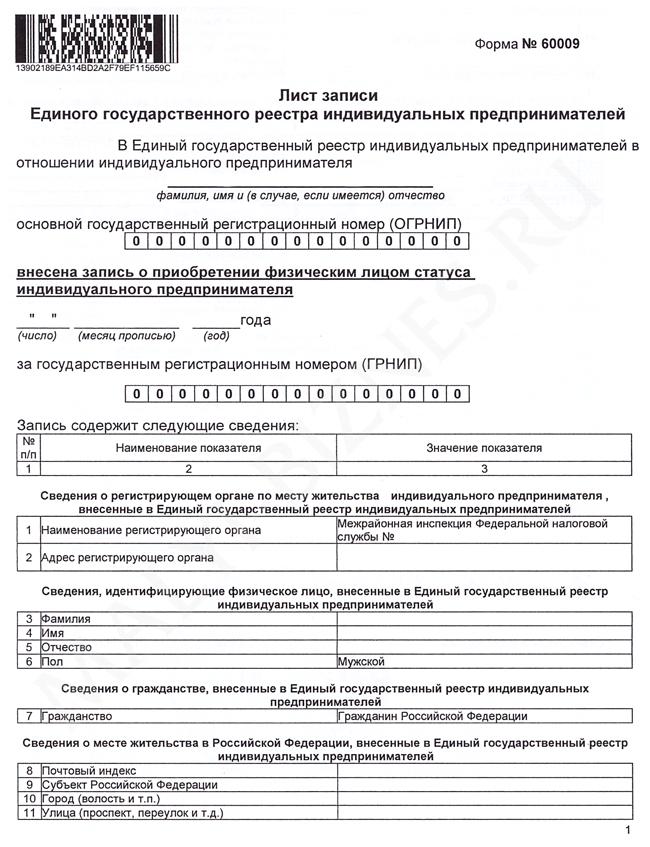 Образец регистрация изменений ип методические рекомендации по заполнению декларации по ндфл