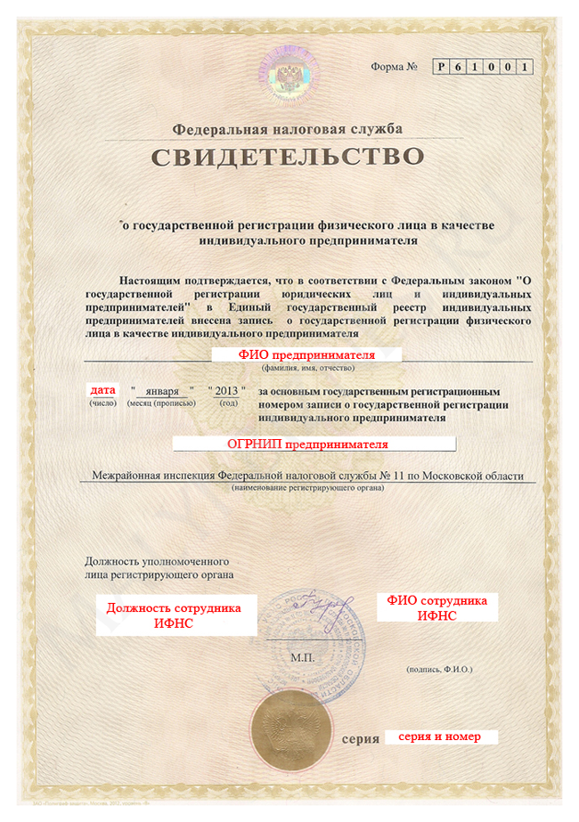 Электронное свидетельство о регистрации ип 1с бухгалтерия описание программы